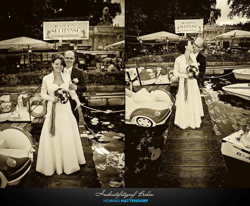 Hochzeitsfotograf Berlin im Restaurant Seehaase am Wannsee