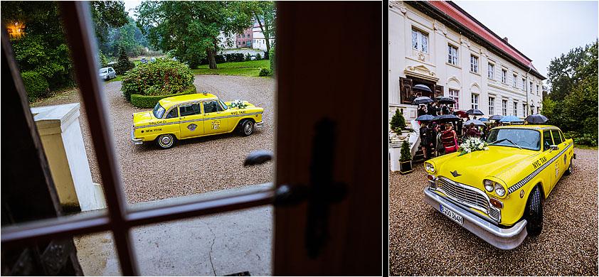 Hochzeitsfotograf Hochzeitsauto NYC Taxi Cab Classic Depot