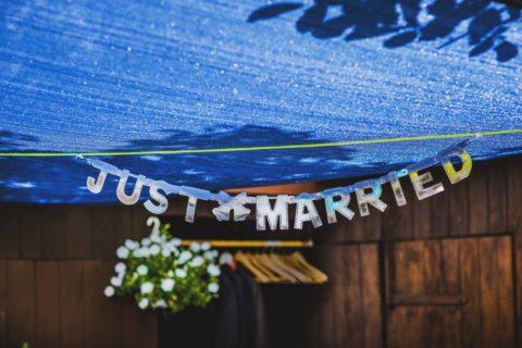 Just Married Schriftzug